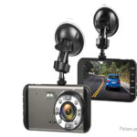 H16 4″ IPS 1296p Front + 720p Rear Dual Camera Car DVR Camcorder