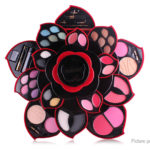 MISS ROSE Rotatable Plum Blossom Styled 23 Colors Eye Shadow Palette Makeup Set