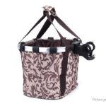 Folding Detachable Handlebar Mount Bike Bicycle Basket Bag Small Pet Dog Cat Carrier