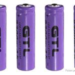 GTL 14500 3.7V 2300mAh Rechargeable Li-ion Battery (4-Pack)