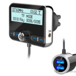 Car DAB Digital Radio FM Transmitter Bluetooth V4.2 MP3 Player