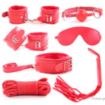 Adult Bondage Erotic BDSM Toy Restraint Handcuffs Sex Toy Set (7 Pieces)