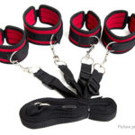 Bondage Restraint System Handcuffs & Ankle Shackles Sex Lingerie Set