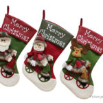 Santa Claus & Snowman & ELK Styled Christmas Stocking Bag Socks Decor (3 Pieces)