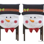 Christmas Chair Seat Cover Kitchen Dinner Home Decor (2-Pack)