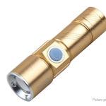 Portable Mini LED Flashlight w/ Focus Zoom