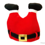 Funny Xmas Party Crazy Hat Novelty Christmas Santa Pants Hat