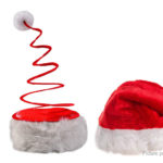 Coil Spring Styled Christmas Party Santa Claus Hat (2 Pieces)
