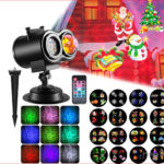 12W Remote Control LED Lawn Projection Lamp Christmas Halloween Decor (US)