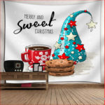 Christmas Beach Towel Tapestry Wall Hanging Dorm Bedspread Decor