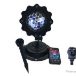 4W Outdoor Snowflake LED Projector Light Christmas Decor (EU)