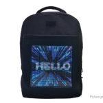 KWQ Wifi Dynamic LED Backpack Mobile Advertisement Shoulder Bag