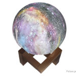 3D Moon Styled Painted LED Night Light Desk Lamp Christmas Decoration