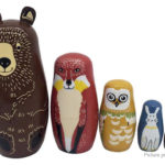 Bear Styled Wooden Russian Matryoshka Nesting Doll for Christmas