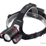 USB Rechargeable LED Fishing Headlamp w/ Focus Zoom