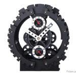 Creative Hollow Out Double Gear Decorative Alarm Clock