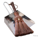 Home Office Desktop Mini Dustpan Handmade Cleaning Brush Broom (2 Pieces)
