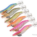Luminous Wooden Shrimp Squid Pin Artificial Fishing Lure Bait (6 Pieces)