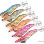 Luminous Wooden Shrimp Squid Pin Artificial Fishing Lure Bait (6 Pieces)