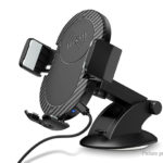 RAXFLY Qi Inductive Wireless Charger Car Mount Cell Phone Holder Stand