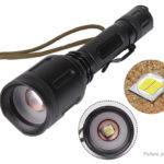 Outdoor Portable LED Flashlight w/ Focus Zoom