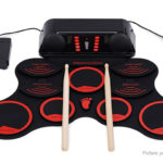 Portable Roll-up 9-Pad Silicone Electronic Drum Kit