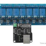 Ethernet Control Module w/ 8CH Relay Board for Arduino