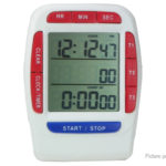 3-Line LCD Digital Clock & Countdown Stopwatch Timer for Kitchen Laboratory