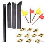 Internal Lathe Threading Boring Bar Turning Tool Holder Set (18 Pieces)
