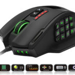 Rocketek GamKoo Series USB Wired High Precision Laser MMO Gaming Mouse