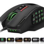 Rocketek GamKoo Series USB Wired High Precision Laser Sensor Venus MMO Gaming Mouse