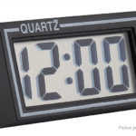 Portable LCD Screen Desk / Car Dashboard Digital Quartz Clock