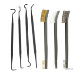 Double-ended Rifle Gun Cleaning Wire Brush + Hook Pick Kit (7 Pieces)