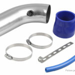 Aluminum Alloy Cold Air Intake Pipe + Turbo Filter Car Modification Kit