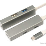 T-803B USB-C to USB 3.0 + USB 2.0 + 2*USB-C + HDMI Converter Adapter