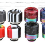 VapeSMOD Stainless Steel + Resin Hybrid 510 + 810 Drip Tip Set (8 Pieces)