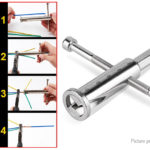 2.5 Square Wire Manual Twisting Tool & Twister Connector for Power Drill