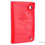 WDANCENW H180 Leather Rotatable Credit Card Holder Wallet Storage Bag