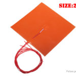 220V Silicone Heated Bed Electric Heating Pad for 3D Printer