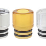 AOLVAPE PEI + Acrylic + 316 Stainless Steel 510 Drip Tip (3 Pieces)