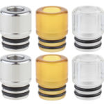 AOLVAPE PEI + Acrylic + 316 Stainless Steel 510 Drip Tip (6 Pieces)