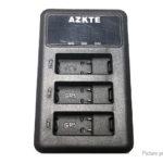 AZKTE AT850 3-Slot Battery Charger for GoPro HERO7/HERO6/HERO5