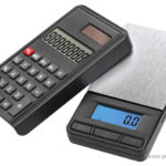 2-in-1 Calculator Digital Electronic Pocket Scale (1000g/0.1g)