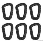 Outdoor Tactical Carabiner Snap Keychain Backpack Hanging Hook (10-Pack)