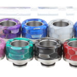 VapeSMOD Stainless Steel + Resin Hybrid 510 Drip Tip Set (8 Pieces)