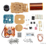 Mini Tesla Coil Module Plasma Speaker DIY Electronics Music Kit