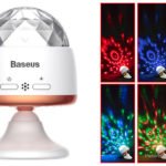 Authentic Baseus Car Crystal Magic Ball LED Disco DJ Stage Light