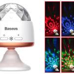 Authentic Baseus Car Crystal Magic Ball LED Disco DJ Stage Light