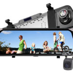 """F800 10"""" IPS 1080p HD Car Rearview Mirror Camera DVR Camcorder"""