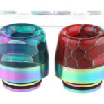 VapeSMOD Stainless Steel + Glass Hybrid 810 Drip Tip (2 Pieces)